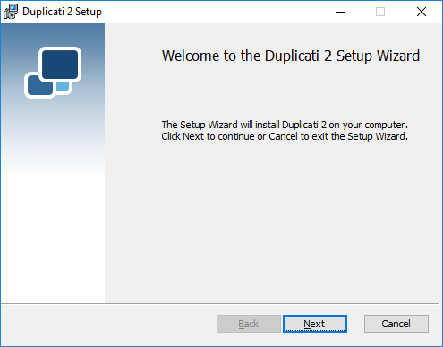 Installation - Duplicati 2 User's Manual