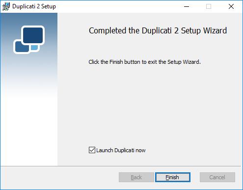 Installation - Duplicati 2 User's Manual