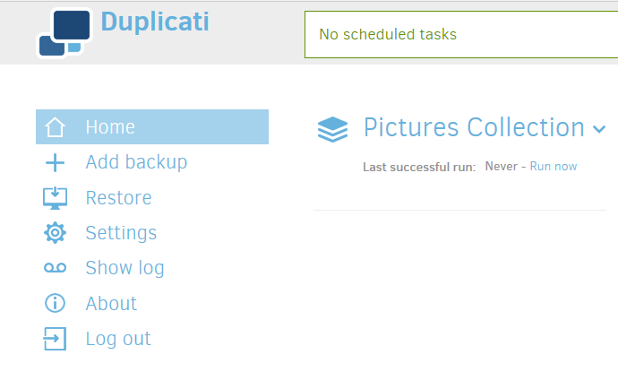 Using the Graphical User Interface - Duplicati 2 User's Manual